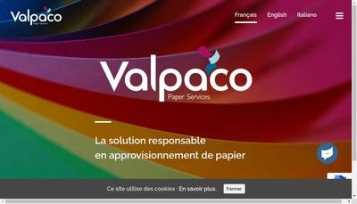 Site internet de Valpaco Group