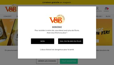 Site internet de V And B