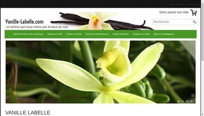 Site internet de Vanille Labelle
