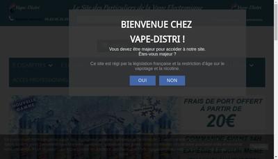 Site internet de Vape Distri