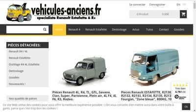 Site internet de Vehicules-Anciens Fr