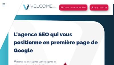 Site internet de Velcome Seo
