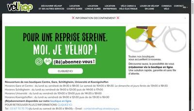 Site internet de Strasbourg Mobilites