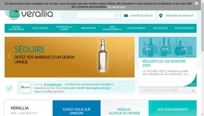 Site internet de Verallia