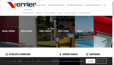 Site internet de Verrier Stores