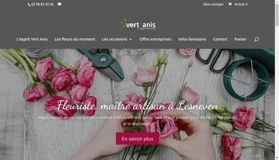 Site internet de Vert Anis