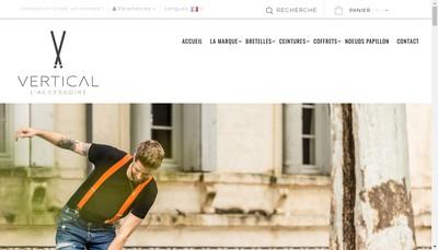Site internet de Vertical l'Accessoire