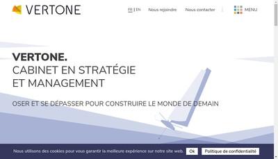 Site internet de Vertone
