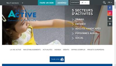 Site internet de La Vie Active