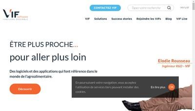 Site internet de Vif Management