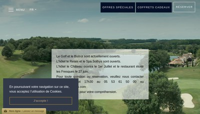Site internet de Chateau des Vigiers Groupe