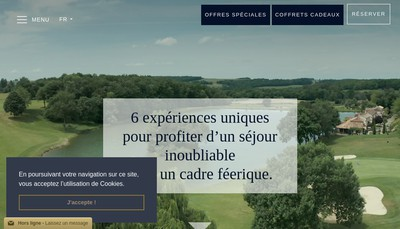 Site internet de Chateau des Vigiers Golf Country Club