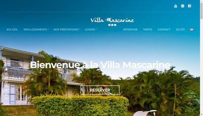 Site internet de Villa Mascarine