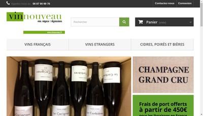 Site internet de Vinnouveau