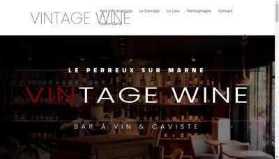 Site internet de Vintage Wine