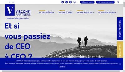 Site internet de Visconti Developpement