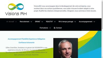 Site internet de Visions Rh