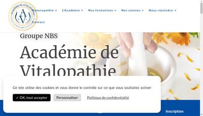 Site internet de Faculte Libre de Naturopathie