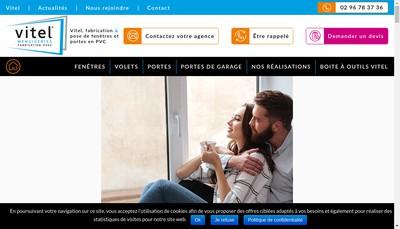 Site internet de Vitel Menuiseries