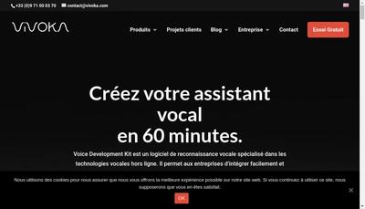 Site internet de Vivoka