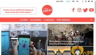 Site internet de Vivre Paris - Vivre Bordeaux