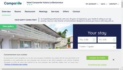 Site internet de Hotel de Voisins