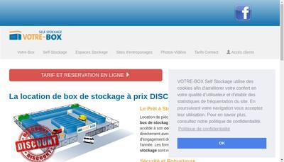 Site internet de Self Stockage Abx Votre Box