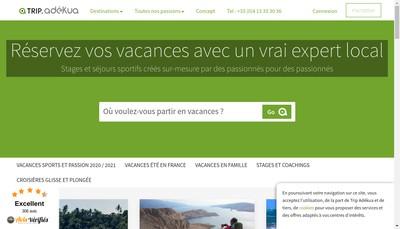 Site internet de Voyages-Adekua Fr
