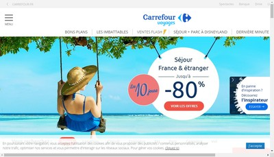 Site internet de Vacances Carrefour