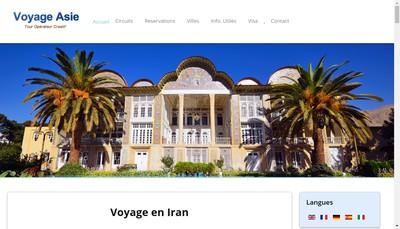 Site internet de Voyage Asie