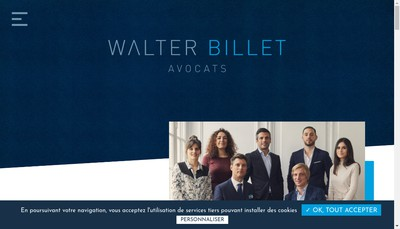 Site internet de Walter Billet Avocats