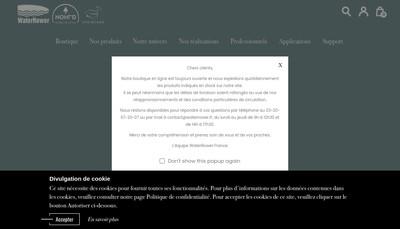 Site internet de Rameur a Eau
