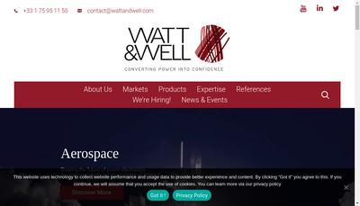Site internet de Watt & Well