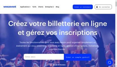 Site internet de Weezevent