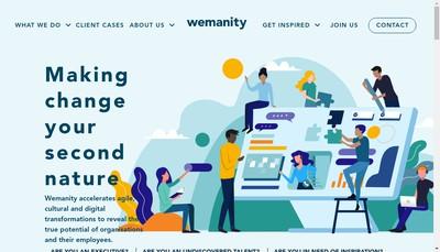 Site internet de Wemanity Paris