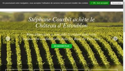 Site internet de Wine Objectives