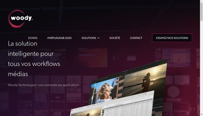 Site internet de Woody Technologies