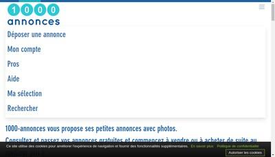 Site internet de 1000-Annonces