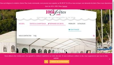 Site internet de Les Mille et une Fetes