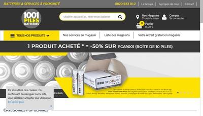 Site internet de 1001 Piles Batteries