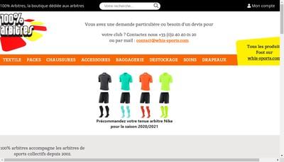 Site internet de 100 Arbitre - Equipment For Referees