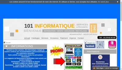 Site internet de 101 Informatique SARL