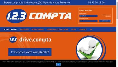 Site internet de 123Compta