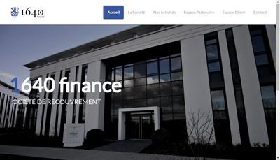 Site internet de 1640 Invest - 1640 Investment