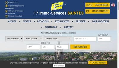 Site internet de 17 Immo Services