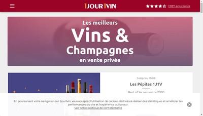 Site internet de 1Jour 1Vin
