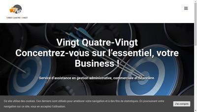 Site internet de Vingt Quatre Vingt