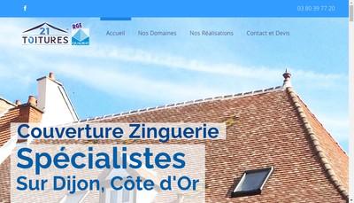 Site internet de 21 Charpentes 21 Toitures 21 Panneaux Solaires