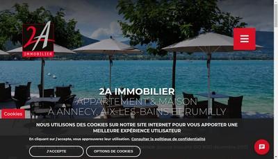 Site internet de Administration Immobiliere Annecienne les 2 a