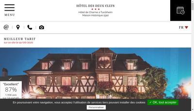 Site internet de Hotel Restaurant des Deux Clefs
